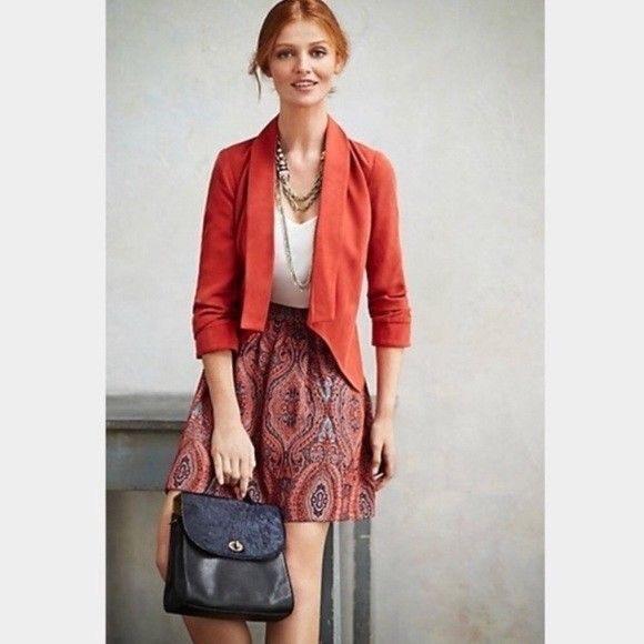 Anthropologie Jackets & Blazers - Anthro Cartonnier Cropped Blazer